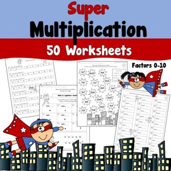 Multiplication Worksheets 0-1 Teaching Resources | Teachers Pay Teachers