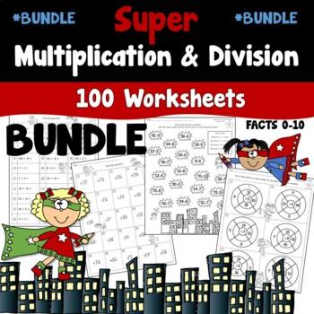 Super Multiplication and Division Worksheets Bundled