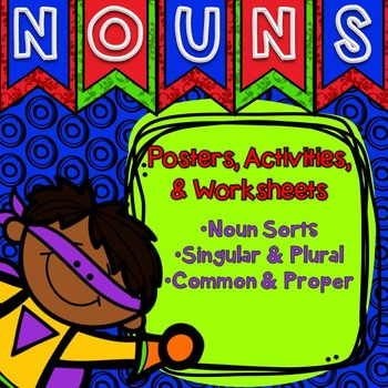 Nouns Worksheets and Station Games