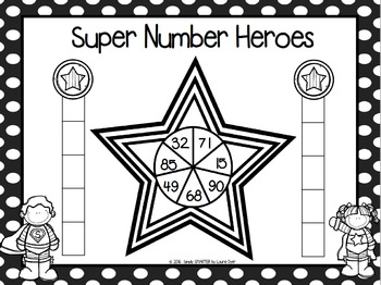 Super Number Heroes:  NO PREP Place Value Race to the Top Game