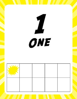 Super Number Posters 0-20 with Tens Frames