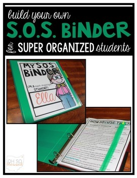 Super Organized Student Take Home Binder System >>CUSTOMIZ