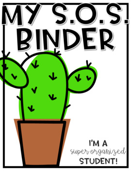 Super Organized Student Take Home Binder System [EDITABLE] CACTUS theme!