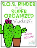 Super Organized Student Take Home Binder System [EDITABLE]