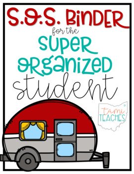 Super Organized Student Take Home Binder System [EDITABLE] CAMPING theme!