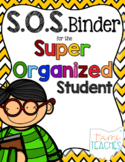 Super Organized Student Take Home Binder System [EDITABLE] CHEVRON theme!