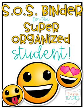 Super Organized Student Take Home Binder System [EDITABLE] EMOJIS theme!