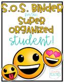 Super Organized Student Take Home Binder System [EDITABLE] EMOJIS theme!