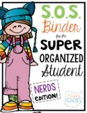 Super Organized Student Take Home Binder System [EDITABLE] NERDS theme!
