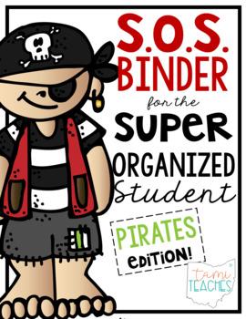 Super Organized Student Take Home Binder System [EDITABLE] PIRATES theme!