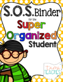 Super Organized Student Take Home Binder System [EDITABLE] POLKA DOTS theme!