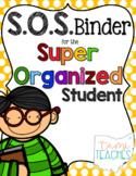 Super Organized Student Take Home Binder System [EDITABLE] POLKA DOTS theme!
