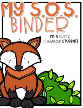 Super Organized Student Take Home Binder System [EDITABLE] Woodland Animals!