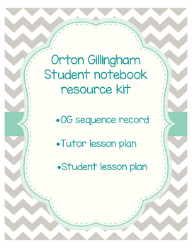 Super Orton Gillingham Student Notebook Resource Kit!