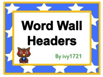 Super Owl Word Wall Headers