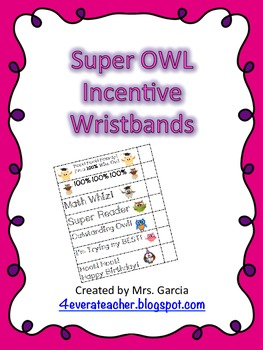 Super Owl Wristbands