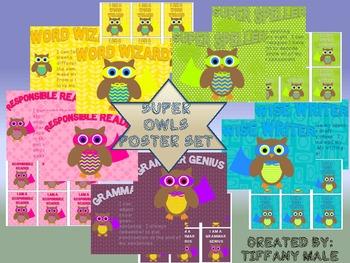 Super Owls poster set
