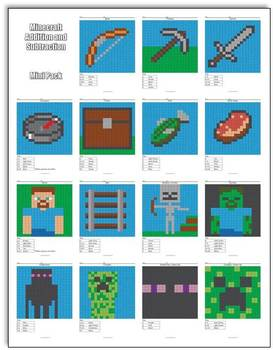 Minecraft Addition and Subtraction