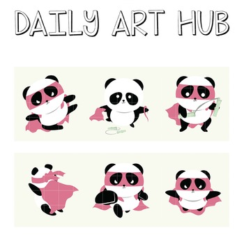 Super Panda - Great for Art Class Projects!