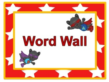Super Panther Word Wall Headers