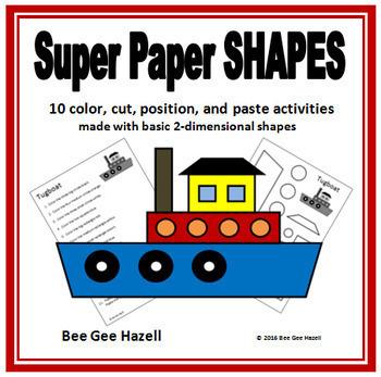 Super Paper SHAPES 2D Color Cut Paste
