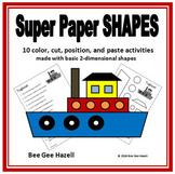 Super Paper SHAPES (2D Shapes Color Cut Paste)