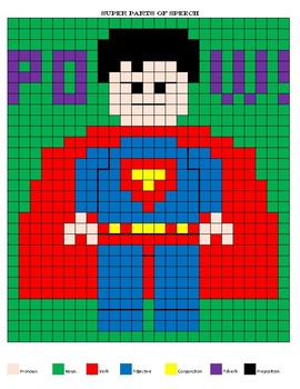Super Parts of Speech Mystery Mosaic