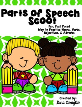Super Parts of Speech Scoot: Nouns, Verbs, Adjectives, and Adverbs