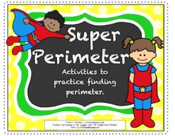 Super Perimeter -- Activities for 3rd Grade CCSS on Perimeter