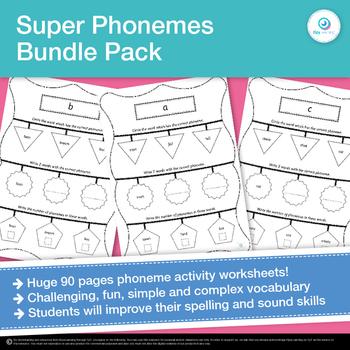 Super Phonemic Awareness and Diagraph Literacy Center Activities