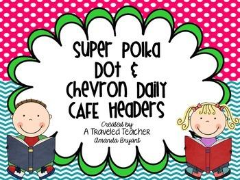 Super Polka Dot and Chevron Daily Cafe Headers