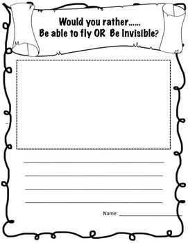 Super Power Package creative writing  and brainstorming pompts worksheets