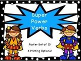 Super Power Verbs Poster Set