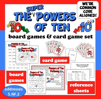 Super Powers of Ten board game & card game set