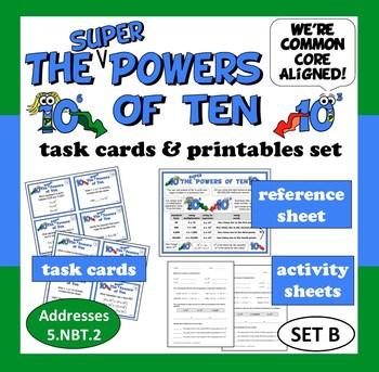 Super Powers of Ten - task cards + printables (set b) –Co