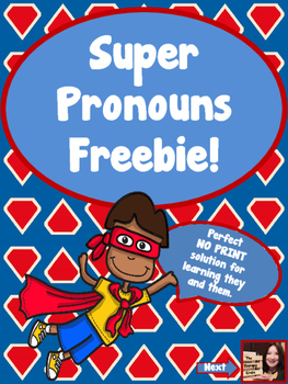 Super Pronoun Freebie