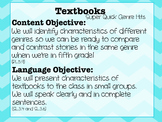Super Quick Genre Hits: Textbook Minilesson