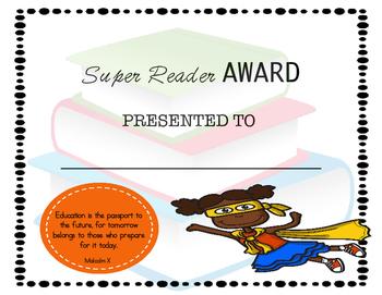 Super Reader Award: Girl