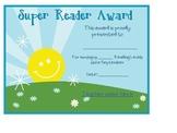 Super Reader Award!