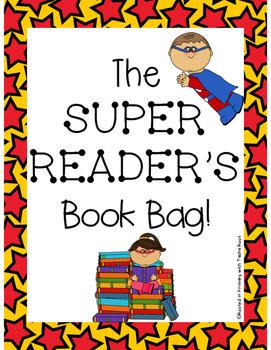 Super Reader Book Bag - Super Hero Themed Reading Set