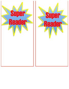 Super Reader Bookmark