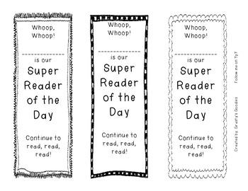 {Freebie} Super Reader Bookmarks