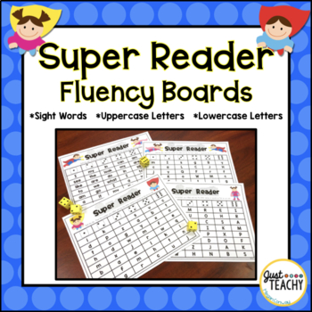 Super Reader Fluency Boards - Sight Words, Letter Names an