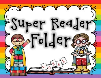 Super Reader Fluency Folder Bundle - Fry Words