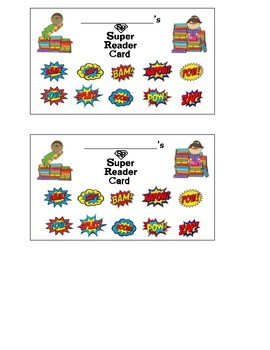 Super Reader Incentive Card