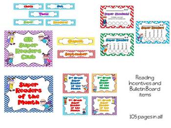 Super Reader Library/Media Center Pack {with EDITABLE passes and signs}