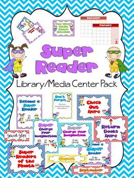 Super Reader Library/Media Center Pack {with EDITABLE pass
