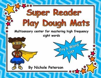 Super Reader Play Dough Mats