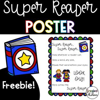 Super Reader Poster {Freebie!}