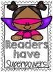 Super Reader Poster Set for Reading Strategies
